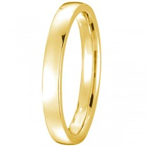 14k Yellow Gold Wedding Ring Low Dome Comfort Fit (2mm)