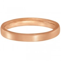 Low Dome Comfort Fit Wedding Ring 18k Rose Gold (2mm)