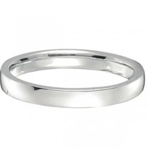 18k White Gold Wedding Ring Low Dome Comfort Fit (2mm)|escape
