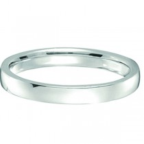 Palladium Wedding Ring Low Dome Comfort Fit (2mm)