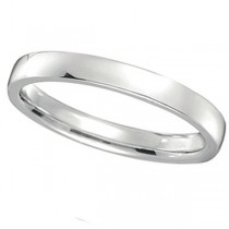 Platinum Wedding Ring Low Dome Comfort Fit (2mm)