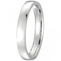 Platinum Wedding Ring Low Dome Comfort Fit (3mm)