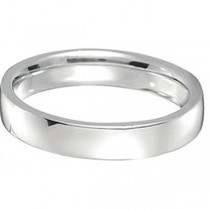 18k White Gold Wedding Ring Low Dome Comfort Fit (4 mm)|escape