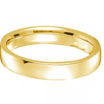 18k Yellow Gold Wedding Ring Low Dome Comfort Fit (4 mm)