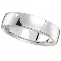 Platinum Wedding Ring Low Dome Comfort Fit (5 mm)