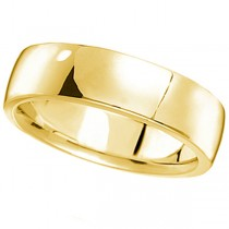 Men's Wedding Ring Low Dome Comfort-Fit in 18k Yellow Gold (6mm)