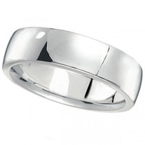 Men's Wedding Ring Low Dome Comfort-Fit in Palladium (6 mm)