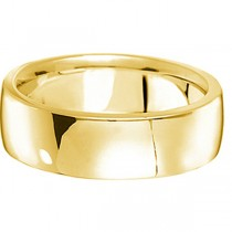 Men's Wedding Band Low Dome Comfort-Fit in 14k Yellow Gold (7 mm)