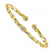Twisted & Hinged Torque Bangle Bracelet 14k Yellow Gold