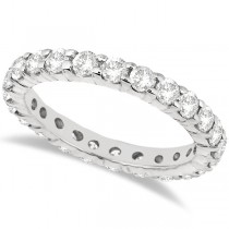 Lab Grown Diamond Eternity Ring Wedding Band in 14k White Gold (2.00ct)