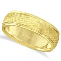 Diamond Cut Wedding Band For Men in 18k Yellow Gold (7mm)
