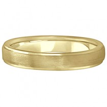 Ridged Wedding Ring Band Satin Finish 18k Yellow Gold (4mm)|escape