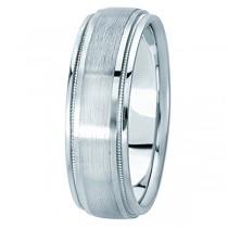 Carved Wedding Band in Platinum For Men (7mm)
