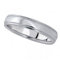 Carved Palladium Wedding Ring Band (4mm)