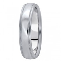 Men's Carved Palladium Wedding Band (5mm)