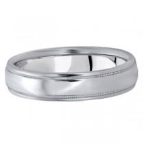 Men's Carved Platinum Wedding Band (5mm)|escape