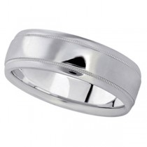 Men's Carved Palladium Wedding Band (7mm)