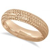Fancy Carved Contemporary Designer Wedding Ring 18k Rose Gold (5mm)