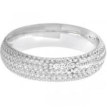 Fancy Carved Contemporary Designer Wedding Ring Platinum (5mm)