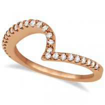 Contour Diamond Wedding Band Prong Set in 18k Rose Gold 0.25ct