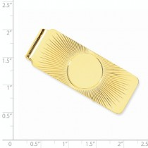 Sunshine Design Money Clip Plain Metal 14k Yellow Gold