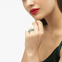 Men's Channel Set Emerald Ring Wedding Band 14k White Gold (0.25ct)