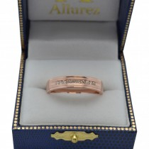 Men's Channel Set Diamond Ring Wedding Band 14kt Rose Gold (1/4ct)