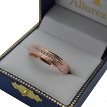 Men's Channel Set Diamond Ring Wedding Band 18kt Rose Gold (1/4ct)