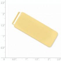 Plain Metal Money Clip 14k Yellow Gold