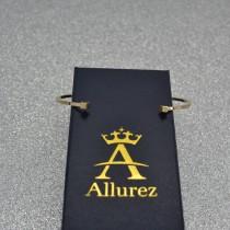 Cube Cuff Bangle Bracelet in 14k Yellow Gold