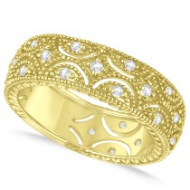 Diamond Milgrain Eternity Band 14k Yellow Gold (0.34ct)