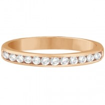 Channel-Set Diamond Ring Band in 14k Rose Gold (0.33ct)|escape