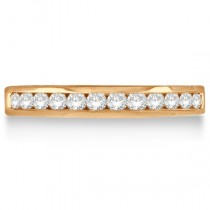 Channel-Set Diamond Ring Band in 14k Rose Gold (0.33ct)