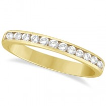 Channel-Set Diamond Ring Band in 14k Yellow Gold (0.33ct)