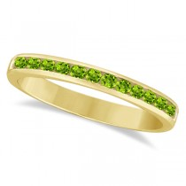 Channel-Set Peridot Stackable Ring in 14k Yellow Gold (0.40ct)