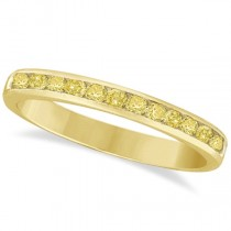 Channel-Set Yellow Canary Diamond Ring Band 14k Yellow Gold (0.33ct)