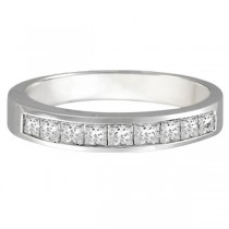 Princess-Cut Channel-Set Diamond Ring in 14k White Gold (1/2 ct)