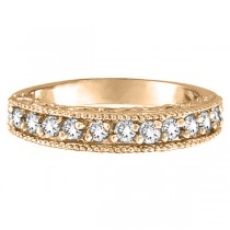 Stackable Diamond Ring Anniversary Band 14k Rose Gold  (0.31ct)