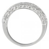 Garnet & Diamond Ring Anniversary Band 14k White Gold (0.30ct)