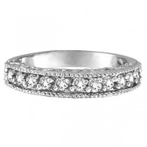 Stackable Diamond Ring Anniversary Band 14k White Gold  (0.31ct)
