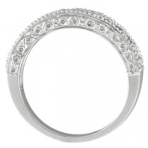 Semi-Eternity Diamond Ring Wedding Band 14k White Gold (0.50ct)