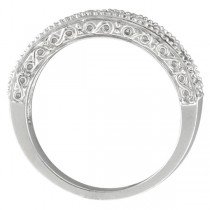 Diamond and Ruby Ring Anniversary Band 14k White Gold (0.59ct)