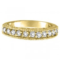Semi-Eternity Diamond Ring Wedding Band 14k Yellow Gold (0.50ct)