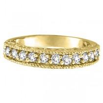 Semi-Eternity Diamond Ring Wedding Band 14k Yellow Gold (0.50ct)