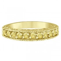 Fancy Yellow Canary Diamond Ring Band 14k Yellow Gold  (0.50ct)