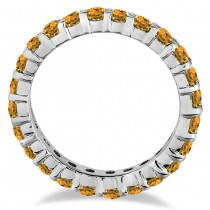 Citrine Eternity Ring Band 14k White Gold (1.07ct)