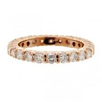 Diamond Eternity Ring Wedding Band 14k Rose Gold (1.07ctw)