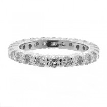 Diamond Eternity Ring Wedding Band 14k White Gold (1.07ctw)|escape