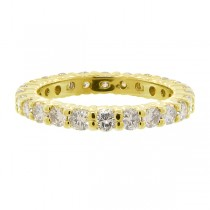 Diamond Eternity Ring Wedding Band 14k Yellow Gold (1.07ctw)