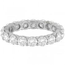 Diamond Eternity Ring Wedding Band Palladium (3.75ct)